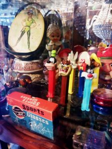 Shopping at Antique Stores in Merida Mexico has become one of my favorite things to do when visiting the White City. This Pez dispenser collection and Peter Pan lunch box are a few of the things you can find.