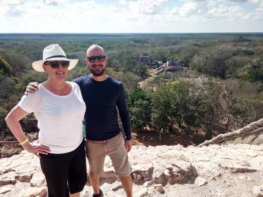 A view from the top of the Ek Balam Mayan Ruins.