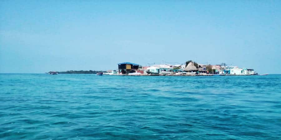 From the boat, a view of Islote de Santa Cruz, one of the San Bernardo Islands.